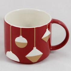 Starbucks Christmas Mug with gold ornaments