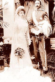 Mariage du prince Jean de France duc de Guise (1874-1940) et de la princesse Isabelle d'Orléans (1878-1961)