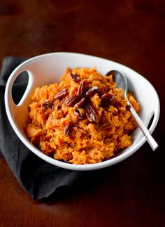 Vanilla-Maple Whipped Sweet Potatoes (recipe by me, photos my Rikki Snyder)