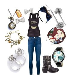 Alice in Wonderland by agent187raven on Polyvore featuring polyvore fashion style Frame Denim Penny Loves Kenny Olympia Le-Tan Disney Marc by Marc Jacobs clothing
