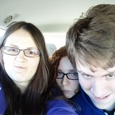 Isaac, Cierra and Bethany! Pretty sure Jordan is still sick. :( Get better soon, Jordan!! ♡