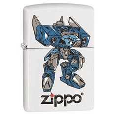 Blue Robot Custom Zippo Windproof Collectible Lighter Made in USA Limited Edition  Rare ** Be sure to check out this awesome product.(This is an Amazon affiliate link and I receive a commission for the sales)