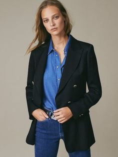New In Collection for Women | Massimo Dutti Spring Summer Black Blazers, Blazers For Women, Women's Blazers, Checked Blazer, Double Breasted Blazer, New Outfits, Timeless Fashion, Latest Fashion Trends, New Dress