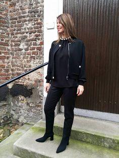 Erg mooie outfit van Boutique Moschino en laarzen van Marc Cain #HBMODE, Ommen: Fashion in Overijssel
