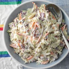 Need coleslaw recipes? Get coleslaw recipes for your next meal or gathering. Taste of Home has lots of coleslaw recipes including coleslaw dressing recipes, creamy coleslaw recipes, and more coleslaw recipes and ideas. Best Coleslaw Recipe, Coleslaw Mix, Coleslaw Recipes, Taste Of Home Coleslaw Recipe, Coleslaw Recipe Sour Cream, Creamy Coleslaw Dressing, Homemade Coleslaw, Creamy Coleslaw Recipe With Celery Seed, Coleslaw Recipe Martha Stewart