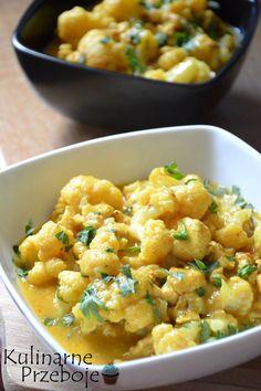 Curry z kurczakiem i kalafiorem, Kurczak z kalafiorem w sosie curry, Curry z kurczakiem i kalafiorem, szybkie curry z kurczakiem i kalafiorem. Tasty, Yummy Food, Wok, Potato Salad, Cauliflower, Macaroni And Cheese, Curry, Vegetables, Ethnic Recipes