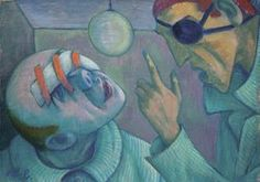 Diskussion im Augenspital Austria, Painting, Art, Woodblock Print, Drawing S, Pictures, Art Background, Painting Art, Kunst