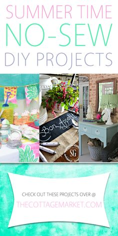 Summer Time No-Sew DIY Projects - The Cottage Market