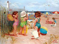 """Beach Babies - Seaside Adventure"" by Donald Zolan"