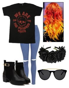 """Fall Out Boy Concert With The Bestie"" by futuremrsclifford ❤ liked on Polyvore featuring Topshop and Smoke & Mirrors"