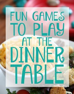 Fun games to play at the dinner table #didntnotice #CG #ad