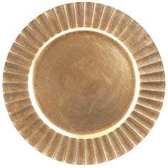 "Sunburst Design 13"" Round Plastic Charger Dinner Plates by bogo Brands (Champagne Gold Set of 8) #champagne #charger #plates"