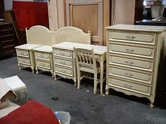 French Provincial Bedroom Furniture Redo custom painted french provincial bedroom set - before & after