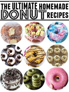 The Ultimate Donut Recipe Roundup | Over 40 of the absolute best donut recipes ever made! #donuts #doughnuts