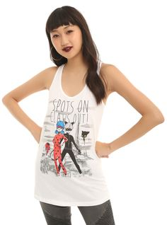 92576794d08cd6 Miraculous  Tales Of Ladybug   Cat Noir Spots On Claws Out Girls Tank Top. Hot  Topic ...