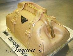 fashion purse handbag cakes   prada Purse Cake   Prada Handbag