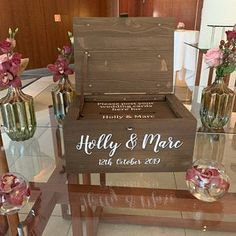 Large Wedding card Box with lock post box keepsake box with Rustic Card Box Wedding, Wedding Boxes, Wedding Cards, Wedding Gifts, Wood Card Box, Post Box, Stain Colors, Keepsake Boxes, Personalized Wedding