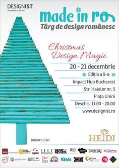 Made in RO   Târg de design românesc, ediția a 5 a - 2014. Christmas Design Magic. - expozanți Eye Candy, Fun, Design, Gifts, Places, Shop, Presents, Favors, Lugares