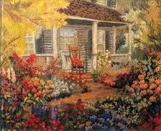 Resultado de imagen para lanigrafía Crewel Embroidery Kits, Embroidery Designs, Country Scenes, Building Art, Needlepoint Patterns, Hand Stitching, Home Art, Crochet, Needlework