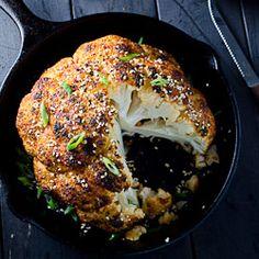 Roasted Sesame Ginger Cauliflower