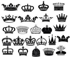 Crown Clipart // King Queen Crown Clip Art // Royal by BlueGraphic