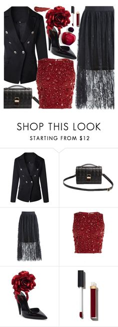 """So Cute: Mini Bags"" by fattie-zara ❤ liked on Polyvore featuring Lace & Beads, Yves Saint Laurent, Chanel and By Terry"