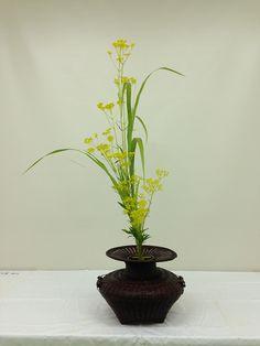 生花 | いけばな池坊-大嶋晴代教室 Ikebana Flower Arrangement, Flower Arrangements, Japanese Flowers, Nihon, Bonsai, Floral Design, Vase, Simple, Garden