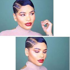 @arnell.armon is popping with this cut via @jessicakiyomi  #thecutlife #edgycut #hairdesign #shorthair #waves