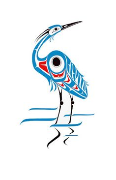 Blue Heron - First Nations :: Drawing from the Northwest :: Canada