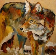 ARTOUTWEST DAILY PAINTING DECEMBER 17 COYOTE WILD ANIMAL -- Diane Whitehead