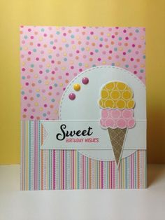 Sweet as Can Be: PTI, patterned paper, summer, by beesmom - Cards and Paper Crafts at Splitcoaststampers
