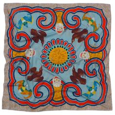 Charlotte Linton Himalayas collection scarf, 135cm x 135cm