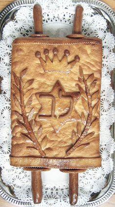 Beautiful Challah for Simchat Torah or Shavuot Sukkot Recipes, Jewish Recipes, Fun Recipes, Penne, Simchat Torah, Arte Judaica, Bread Shaping, Kosher Recipes, Kosher Food