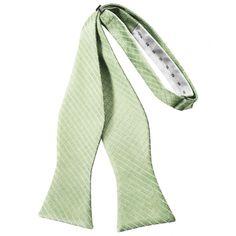 Mint Diamond Grid Pattern Self-Tie Bow Tie