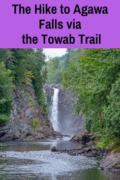 The Hike to Agawa Falls in Northern Ontario - in beautiful Lake Superior Provincial Park Lake Superior Map, Lake Superior Agates, Backpacking For Beginners, Ontario Travel, Ontario Camping, Arizona, Bay Lake, Waterfall Hikes, Hiking Trails