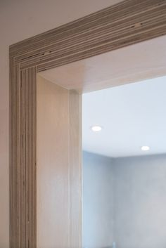 Plywood door lining