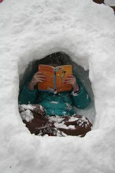 For this person, when it snowed and the kids carved out little caves, they would sit there all afternoon with a book. No snowball fights for them.