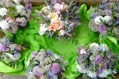 A summer season of natural and vintage inspired wedding flowers