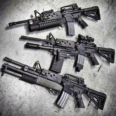AR-15 M-16 With Shotgun's And Grenade's Oh My!!