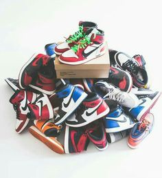 sports shoes a3e63 c30e5 Nothing but I s!! I see some Retros, some Top 3s, some Breds