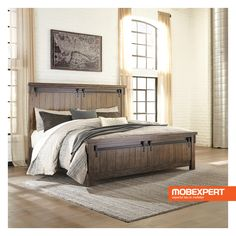 54 Simply Farmhouse Master Bedroom Design Ideas Match For Any Room - Trendehouse Farmhouse Master Bedroom, King Bedroom, Master Bedroom Design, Bedroom Designs, Huge Master Bedroom, Master Master, Master Suite, Industrial Bedroom Furniture, Rustic Industrial Bedroom