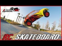 Massive Traxxas RC Car Skatepark Jump - Concrete Rally - YouTube