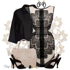 Black Lace, created by diane-hansen on Polyvore