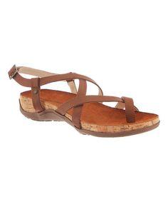Look at this #zulilyfind! Brown Autumn Sandal by BEARPAW #zulilyfinds