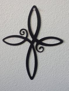 Black Cross Wall Art, Decorative Cross, Iron Cross, Infinity Cross Wall Art