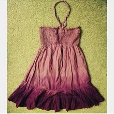 Dresses & Skirts - SALE Purple ombre dip dyed elasticated beach dress