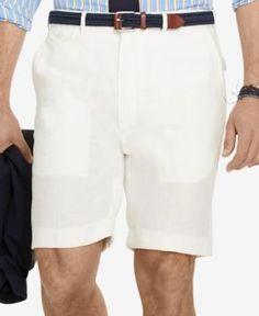 Polo Ralph Lauren Big & Tall Men's Classic-Fit Shorts - White 50B