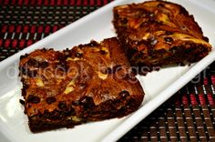 Hell's Brownies with cream cheese.............