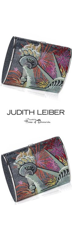 "~Judith Leiber ""Lady Liberty"" Swarovski Crystal Clutch Bag 