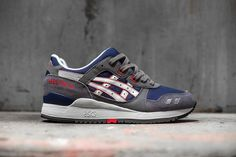 #ASICS Gel-Lyte III Grey/Navy